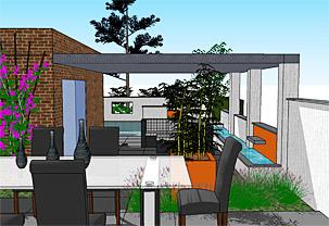 Het palet tuinontwerp tuinarchitect for Tuinarchitect kleine tuin