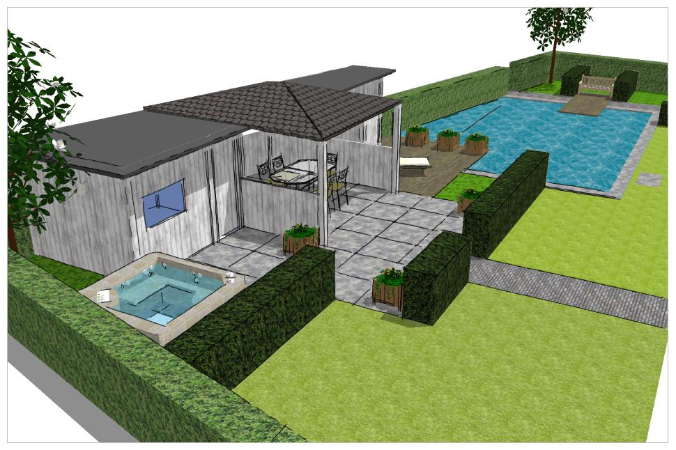 Het palet tuinontwerp tuinontwerpen for 3d tuin ontwerpen