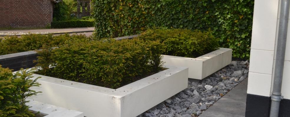 Het palet tuinontwerp moderne voortuin for Voortuin modern