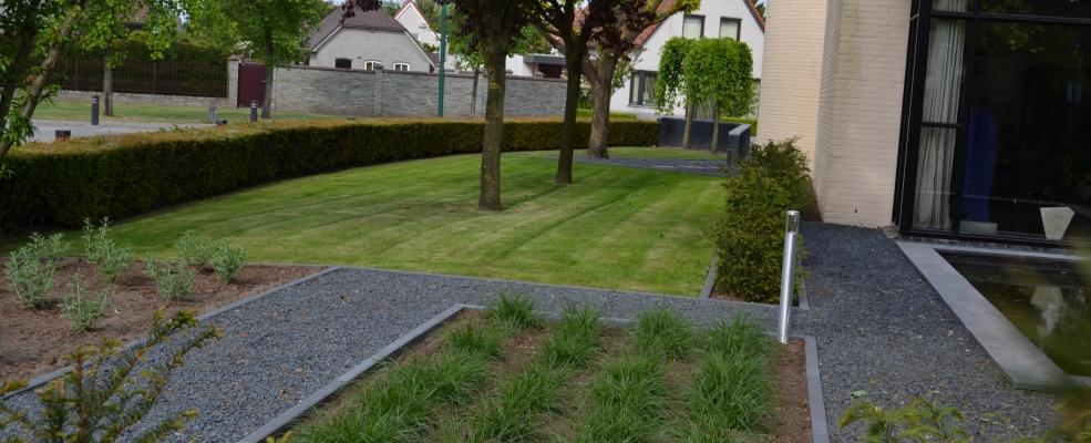 Het palet tuinontwerp designtuin bij moderne woning - Tuin met openlucht design ...