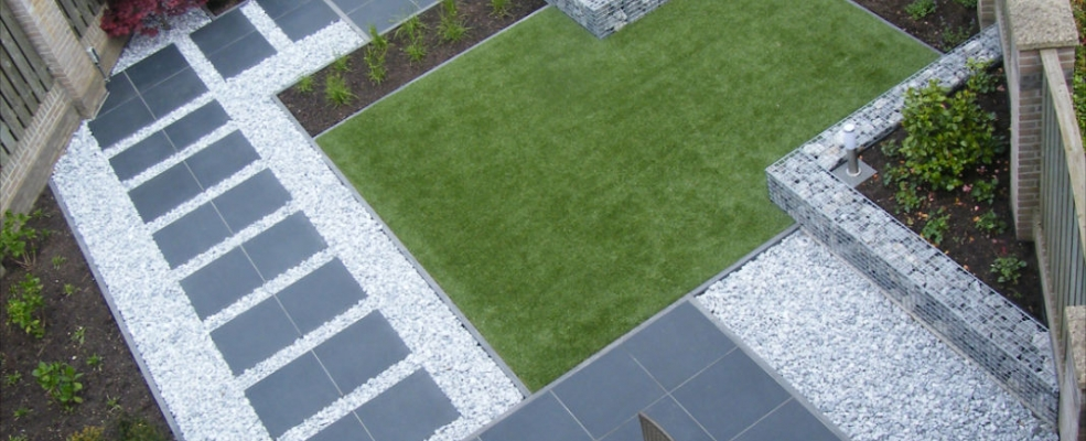 Het palet tuinontwerp moderne achtertuin - Oprit idee ...